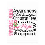 Collage de la cinta del cáncer de pecho de las postal
