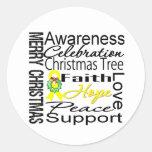 Collage de la cinta del cáncer de vejiga de las pegatina redonda