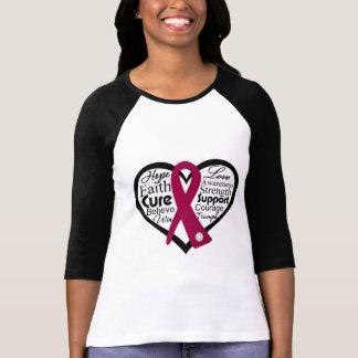 Collage de la cinta del corazón - Amyloidosis Camisetas