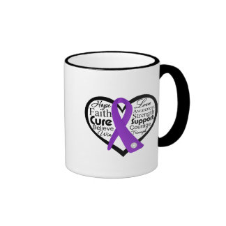 Collage de la cinta del corazón de la enfermedad d taza de café