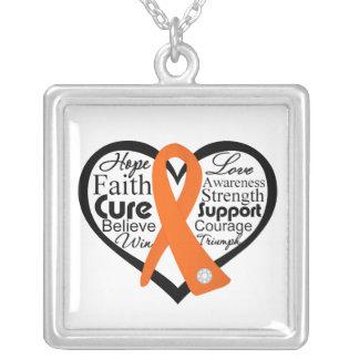 Collage de la cinta del corazón de la leucemia grímpola