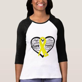 Collage de la cinta del corazón de la t shirt