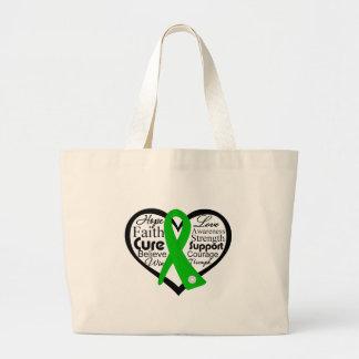 Collage de la cinta del corazón de la salud mental bolsas