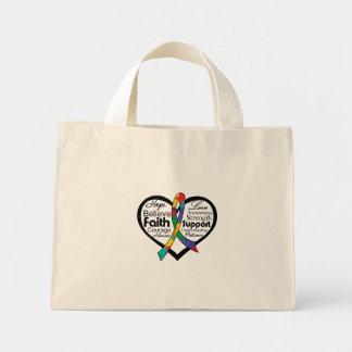 Collage de la cinta del corazón del autismo bolsas