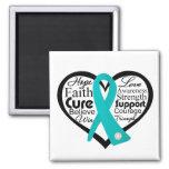 Collage de la cinta del corazón del escleroderma imán de nevera