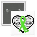 Collage de la cinta del corazón del linfoma de Non Pins