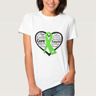Collage de la cinta del corazón del linfoma remeras