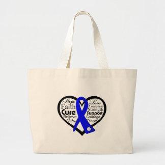 Collage de la cinta del corazón del síndrome de Re Bolsa De Mano