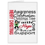 Collage de la cinta del melanoma de las Felices Na Felicitación