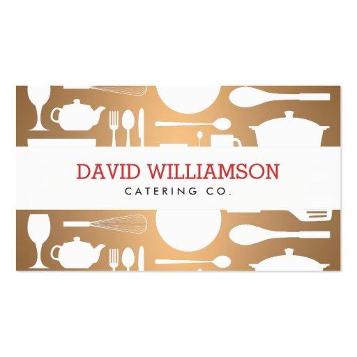 Collage de la cocina del vintage en el cocinero de tarjetas de visita