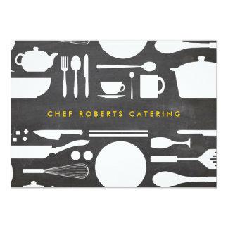 Collage de la cocina en el fondo Notecard de la Invitación 12,7 X 17,8 Cm