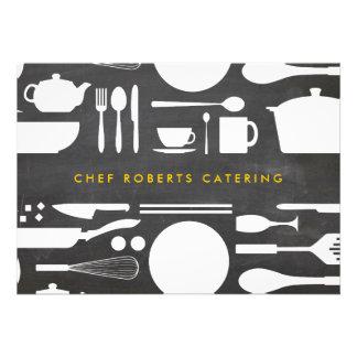 Collage de la cocina en el fondo Notecard de la pi Anuncio