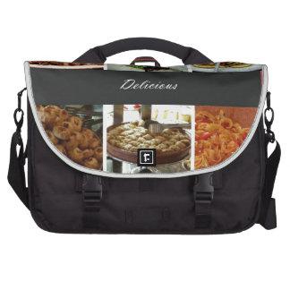 Collage de la comida bolsas para portátil