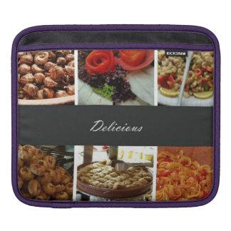 Collage de la comida fundas para iPads