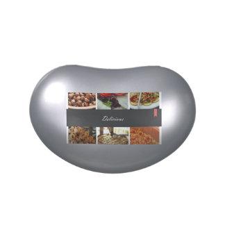 Collage de la comida jarrones de caramelos