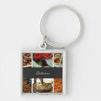 Collage de la comida llavero personalizado