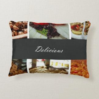 Collage de la comida cojín decorativo