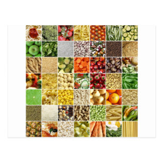 Collage de la comida postal