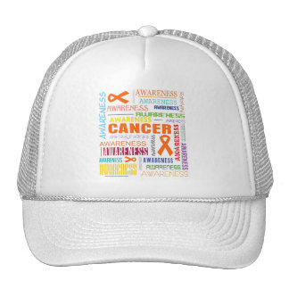 Collage de la conciencia de la leucemia gorros