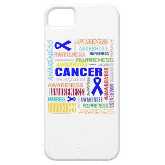 Collage de la conciencia del cáncer de colon iPhone 5 Case-Mate fundas
