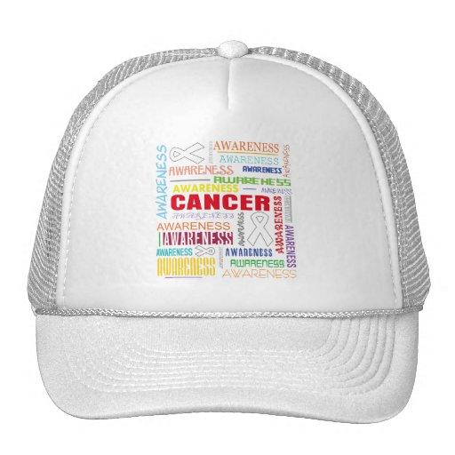 Collage de la conciencia del cáncer de hueso gorras de camionero