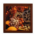 Collage de la cosecha de la caída caja de joyas