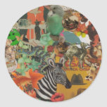 Collage de la cubierta 2 pegatinas etiquetas redondas
