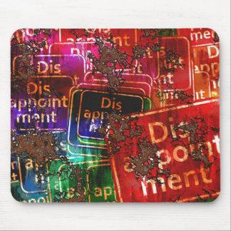 Collage de la decepción alfombrilla de ratones