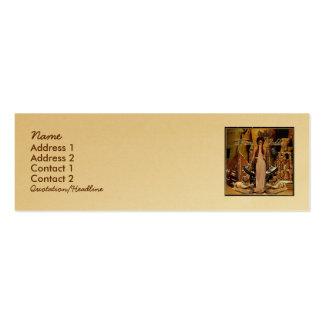Collage de la diosa del drama plantillas de tarjetas de visita