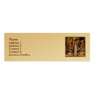 Collage de la diosa del drama tarjetas de visita mini
