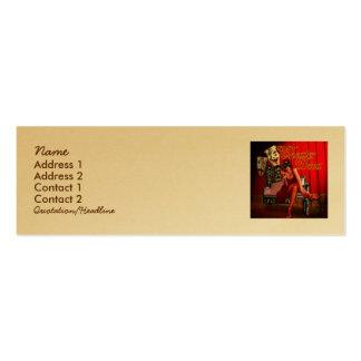 Collage de la diva del teatro tarjetas personales