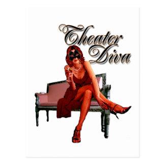 Collage de la diva del teatro postal