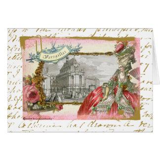 Collage de la elegancia de Versalles Marie Antonie Tarjeta
