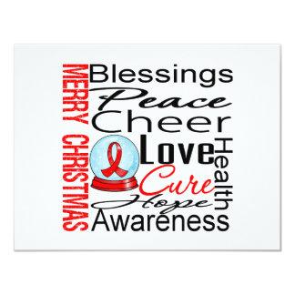 Collage de la enfermedad cardíaca del día de invitacion personal