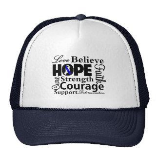 Collage de la enfermedad del ALS de la esperanza Gorros Bordados