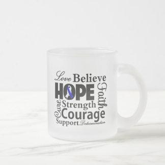 Collage de la enfermedad del ALS de la esperanza Tazas De Café