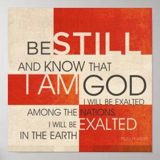 Collage de la escritura del salmo posters