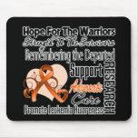Collage de la esperanza del tributo - leucemia tapete de ratón