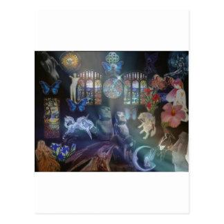 collage de la fantasía postal