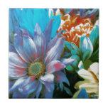 Collage de la flor azulejos
