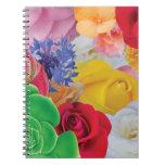 Collage de la flor - cuaderno espiral
