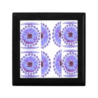 Collage de la flor del ZINNIA - romance sensual Caja De Recuerdo