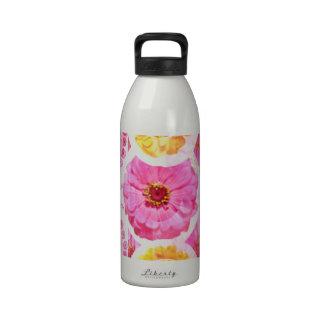 Collage de la flor del ZINNIA - transformaciones a Botella De Agua