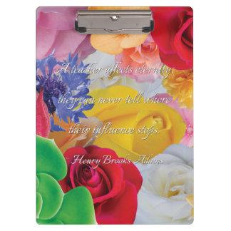 Collage de la flor, para los profesores - tablero