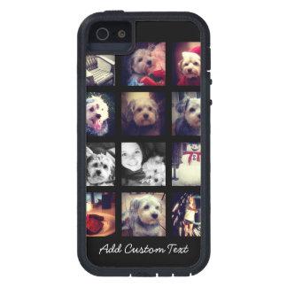 Collage de la foto con el fondo negro funda para iPhone 5 tough xtreme