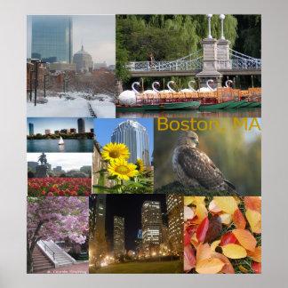Collage de la foto de Boston, Massachusetts Póster