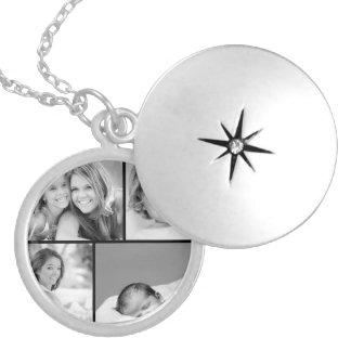Collage de la foto de familia medallones
