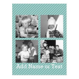 Collage de la foto de Instagram 4 imágenes - rayas Tarjetas Postales