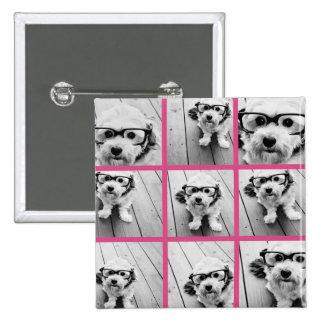 Collage de la foto de Instagram con 9 fotos cuadra Pin Cuadrado