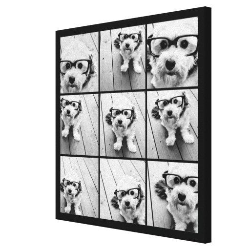 Collage de la foto de Instagram con 9 fotos Impresión En Lienzo